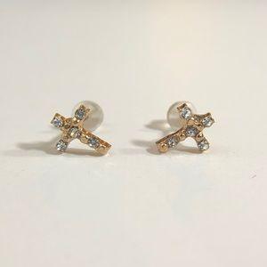 3/$12💛Mini Rhinestone Cross Stud Earrings